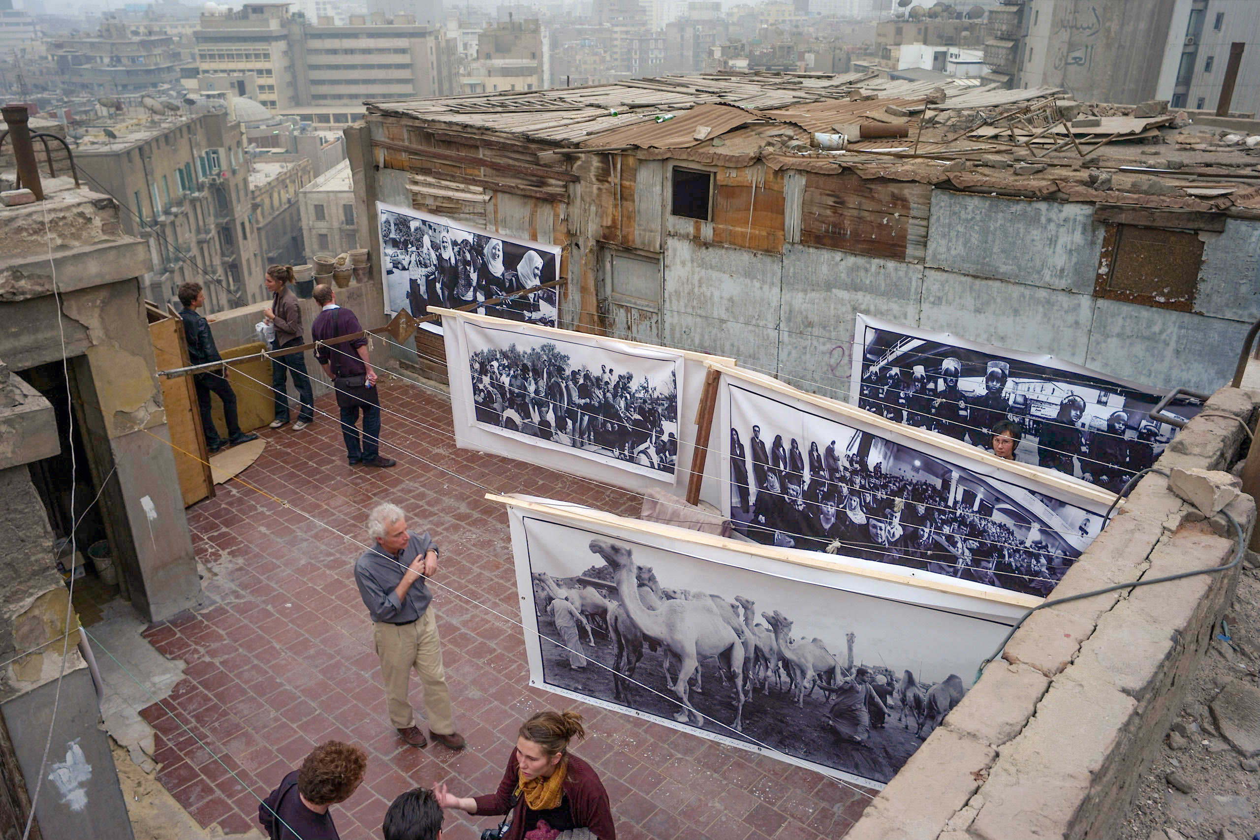Graffenried Rooftop Installation in Down Town Cairo, March 23, 2007